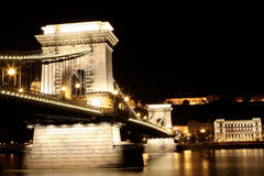 Chain bridge. In Budapest, night view Stock Photos