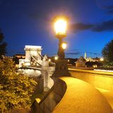Chain Bridge Stock Photo
