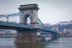The Chain Bridge. Royalty Free Stock Photography