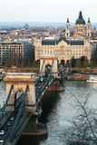 Chain Bridge. The oldest in BUdapest Royalty Free Stock Photos