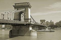 Chain Bridge. Royalty Free Stock Photography