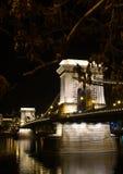 Chain Bridge. One of the famous bridges over the Danube in Budapest, The Chain Bridge Stock Photos