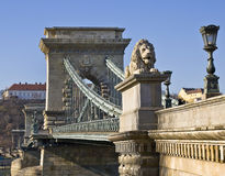 Chain Bridge. In Budapest, Hungara Stock Photo