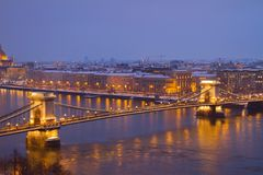 Chain Bridge  from above, Budapest Royalty Free Stock Image
