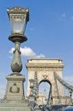 Chain Bridge at Budapest, Hungary royalty free stock photography