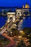Chain Bridge & Blue Hour Royalty Free Stock Photos