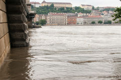 Chain Bridge and Buda Embankment, Budapest Royalty Free Stock Photography