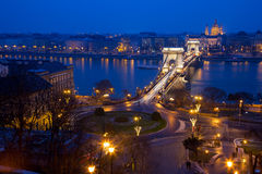 The Chain Bridge in Budapes Stock Image