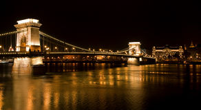Chain Bridge in Budapest. Hungary royalty free stock images