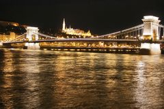 Chain bridge in Budapest Royalty Free Stock Image