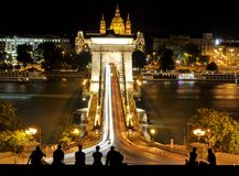Chain Bridge of Budapest Royalty Free Stock Image