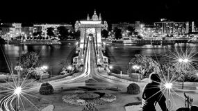 Chain Bridge at Budapest Stock Photography