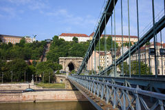 Chain Bridge in Budapest Royalty Free Stock Photo