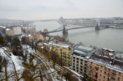 The Chain bridge in Budapest Stock Photos