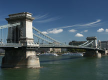 Chain Bridge in Budapest Stock Images