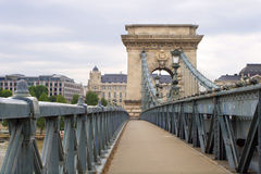 Chain bridge in Budapest Royalty Free Stock Photos