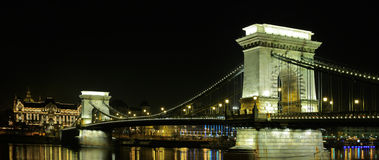 The Chain Bridge in Budapest Royalty Free Stock Photos