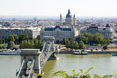 Chain Bridge of Budapest Stock Photo