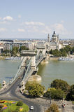 Chain Bridge of Budapest Royalty Free Stock Images