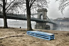Chain bridge from Budapest Royalty Free Stock Photo