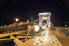 Chain bridge in Budapest Stock Photography