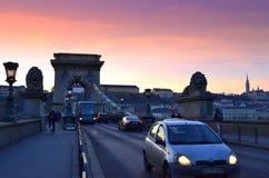Chain Bridge Budapest Stock Images