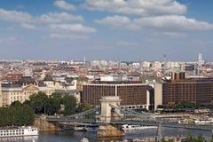 Chain bridge Budapest cityscape Stock Image