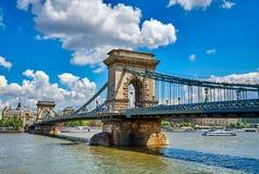 Chain bridge in Budapest Stock Photography
