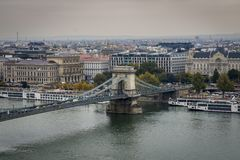 Chain bridge Budapest royalty free stock photos