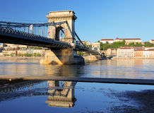Chain Bridge - Budapest at day Royalty Free Stock Image