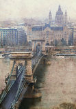 The Chain Bridge in Budapest Stock Images