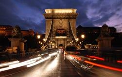 Chain bridge in Budapest Stock Photos