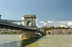 Chain Bridge. In Budapest ,general arhitecture Royalty Free Stock Images