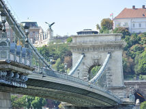 Chain Bridge. In Budapest ,general arhitecture Royalty Free Stock Image