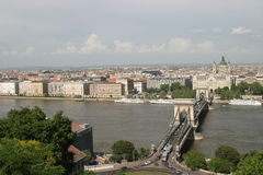 Chain Bridge,Budapest. Chain Bridge, a historic Budapest  cityscape, Hungary Royalty Free Stock Photo