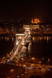 The Chain Bridge in Budapest, Hungary Stock Photo