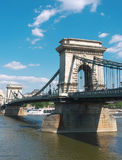 Chain bridge, Budapest, Hungary. Chain Bridge over the Danube river, Budapest, Hungary Royalty Free Stock Photos