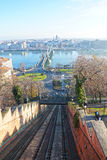 Chain Bridge in Budapest, Hungary Royalty Free Stock Photos