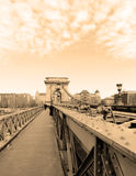 Chain Bridge in Budapest, Hungary Royalty Free Stock Photo