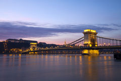Chain bridge Royalty Free Stock Photos