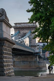 Chain Bridge in Budapest, Hungary Royalty Free Stock Image