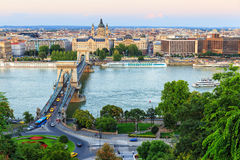 Chain Bridge, Budapest Stock Photo
