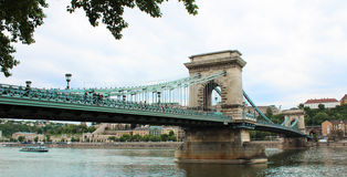 Chain bridge in Budapest royalty free stock images