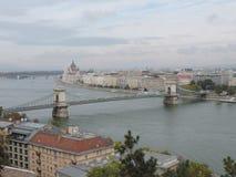 The Chain Bridge in Budapest. Hungary Stock Photo