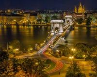 Chain Bridge, Budapest, Hungary Stock Images