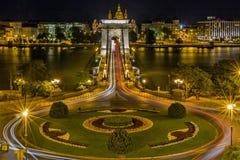 Chain Bridge, Budapest, Hungary Royalty Free Stock Photography