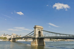 Chain Bridge at Budapest, Hungary stock photography