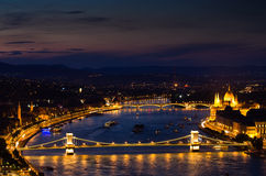 Chain Bridge, Budapest-Hungary Royalty Free Stock Photos