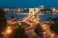 Chain Bridge In Budapest Hungary Royalty Free Stock Image