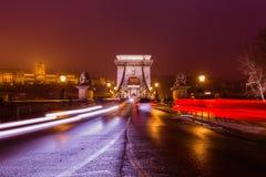 Chain bridge in Budapest Hungary Stock Images